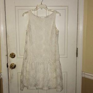 Jessica Simpson White Floral Dress